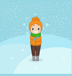 Cold weather boy cold weather boy vector