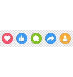 Collection social media icons vector