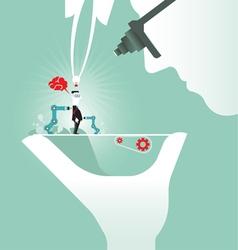 Creative brain idea concept vector image vector image