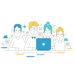 Creative team working together human resources vector