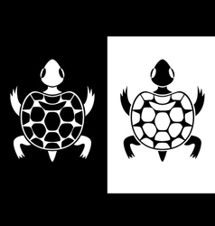 Creative turtle vector image