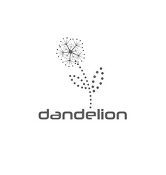 Cyber dandelion design template vector