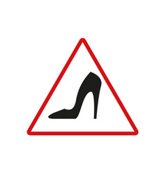danger heel black icon vector image