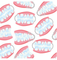 Denture pattern on white vector