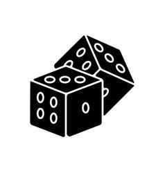 Dice games black glyph icon vector
