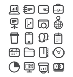Different business icons set vector