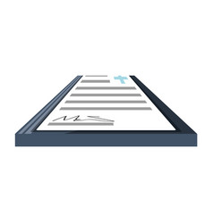 Document with sign vector