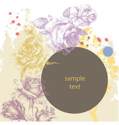 floral advertising leaflet greeting card vector image