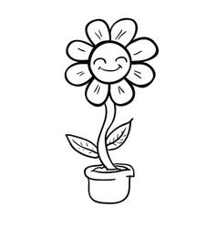 Flower black vector