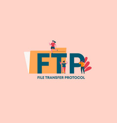 Ftr file transfer protocol product industrial vector