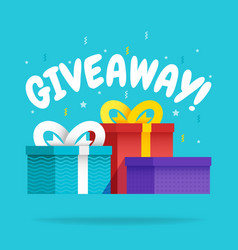 giveaway for promo in social network advertizing vector image
