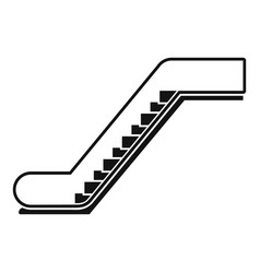 glass escalator icon simple style vector image