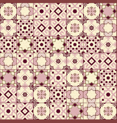 Gorgeous seamless pattern white old pink moroccan vector