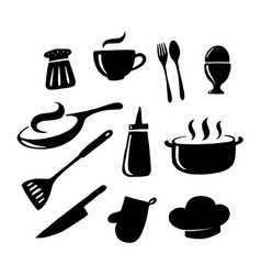 Graphic kitchenware vector