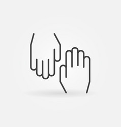 hands concept outline icon or symbol vector image