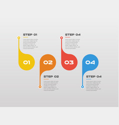 horizontal steps timeline infographics circle vector image