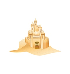 Icon sandcastle vector