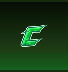initial c e sport logo design template inspiration vector image