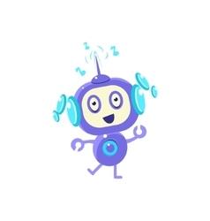 Little robot dancing vector