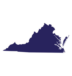 Map us state virginia vector