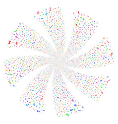 Math symbols fireworks swirl flower vector