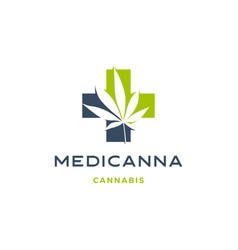 Medical cannabis logo hemp leaf icon download vector