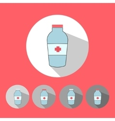 Medical icons red color vector image