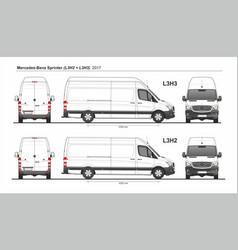 Mercedes sprinter cargo van l3h2 and l3h3 2017 vector