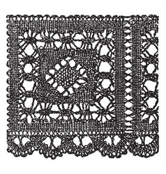 modern pillow lace border is a form of textile vector image