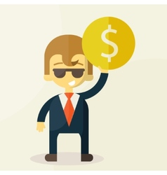 Money and man vector image