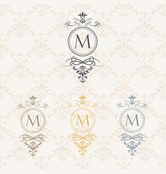 monogram design elements vector image