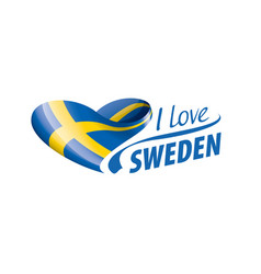 National flag sweden in shape a vector