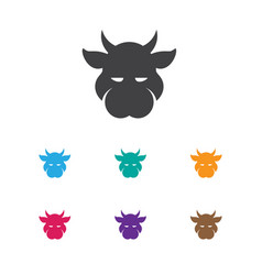 of zoology symbol on calf icon vector image
