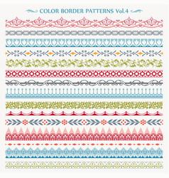 ornamental border frame vintage seamless patterns vector image