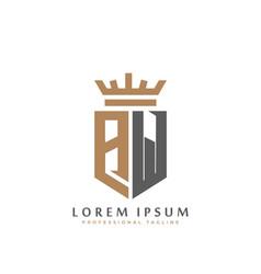 premium aw monogram two letters aw elegant vector image