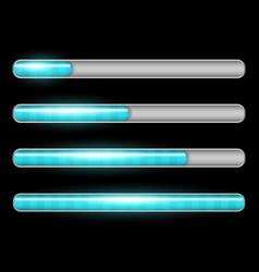 Progress loading bar with lighting vector