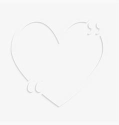Quote red heart bracket vector