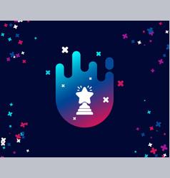 rank star simple icon success reward vector image