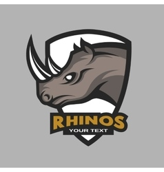 Rhino emblem logo for a sports team vector