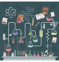Science Concept Flat vector