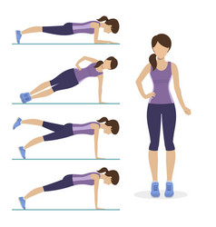 Set plank exercise vector