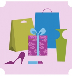 Shopping design elements vector
