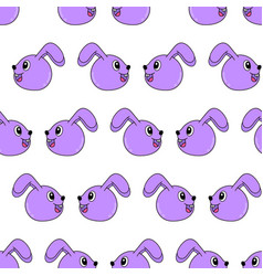 smile rabbit bunny seamless pattern textile print vector image