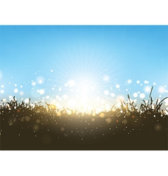 Sunny landscape 2003 vector