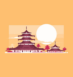 traditional japanese house vector image