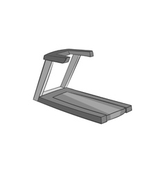 Treadmill icon black monochrome style vector