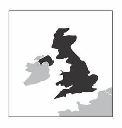 united kingdom dark silhouette vector image