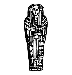 vintage engraving an ancient egyptian vector image