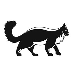 Walking cat icon simple style vector