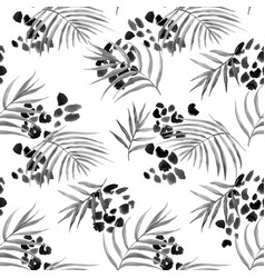 Watercolor abstract tropical pattern vector
